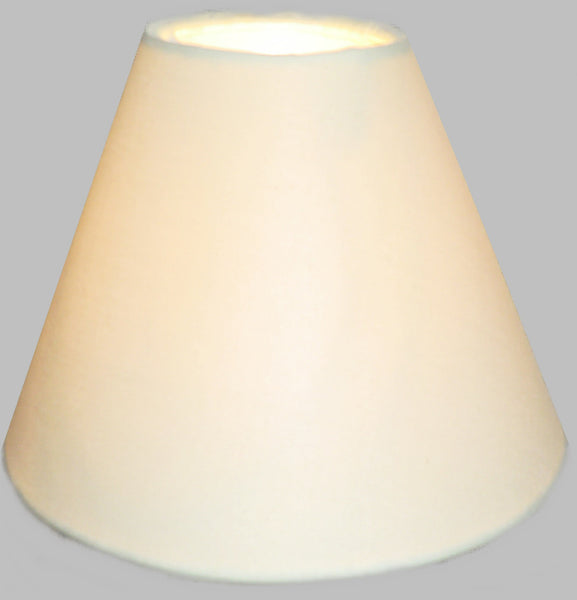 "Cream Clip On Candle Lampshade 5.5"" Chandelier Pendant Light Shade Retro Chic 1"