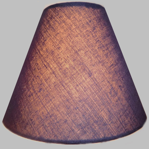 "Navy Dark Blue Clip On Candle Lampshade 5.5"" Chandelier Pendant Light Shade Retro 1"