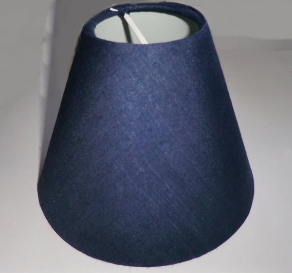 Navy Blue Clip On Candle Lampshade 5 Inch Diameter Regal Classic Shade for Pendant Chandelier 4