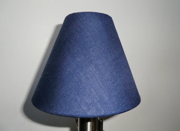 Navy Blue Clip On Candle Lampshade 5 Inch Diameter Regal Classic Shade for Pendant Chandelier 8