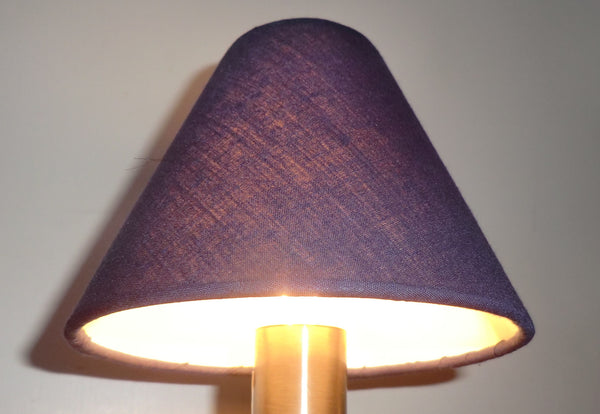 Navy Blue Clip On Candle Lampshade 5 Inch Diameter Regal Classic Shade for Pendant Chandelier 5