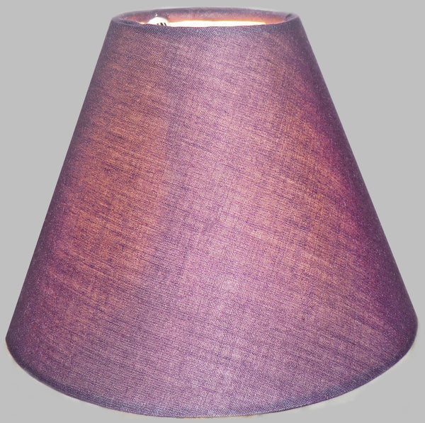 "Plum Purple Clip On Candle Lampshade 5.5"" Chandelier Pendant Light Shade Retro 2"