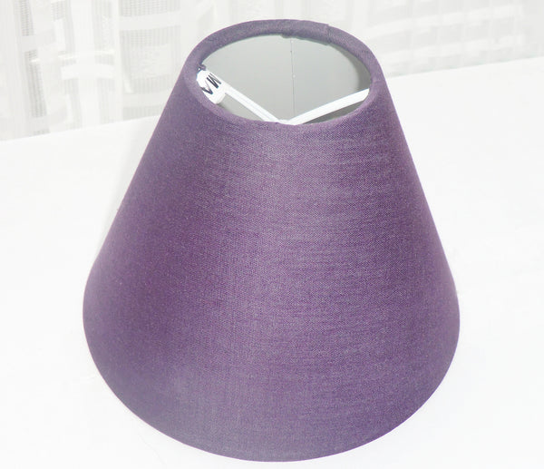 Purple Clip On Candle Lampshade 5' Diameter Retro Shade 2