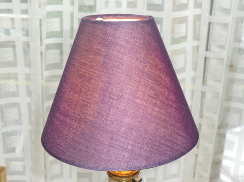 Purple Clip On Candle Lampshade 5' Diameter Retro Shade 3