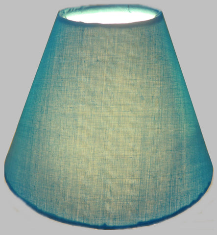 "Turquoise Blue Clip On Candle Lampshade 5.5"" Chandelier Pendant Light Shade Retro 3"