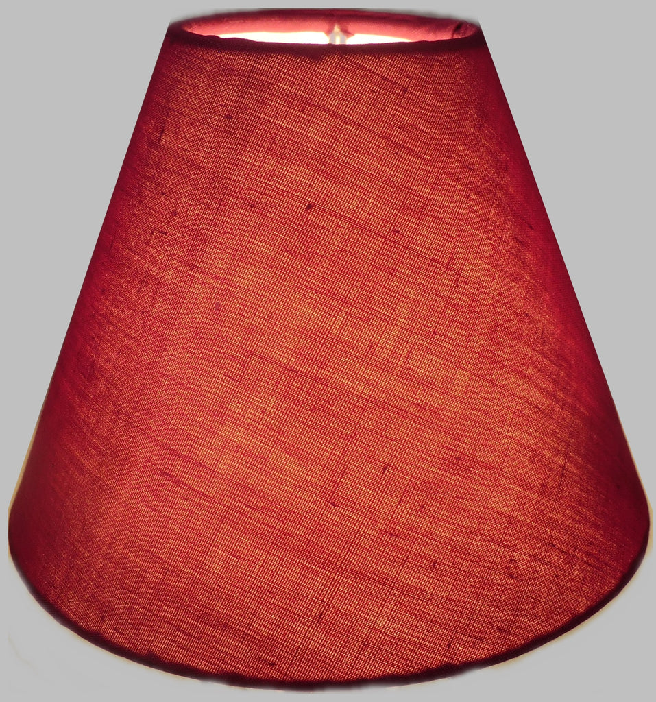 "Burgundy Wine Red Clip On Candle Lampshade 5.5"" Chandelier Pendant Light Shade 1"