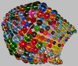 Chandelier Bead Light Bulb GLS Multi Colour Rainbow Glass Cover Sleeve Lampshade Alternative Beaded 3