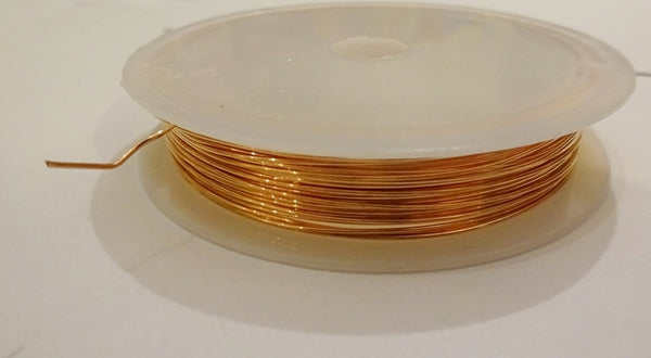 6 Metre Reel Copper Finish Chandelier Wire Links for Droplets Crystals Drops 4