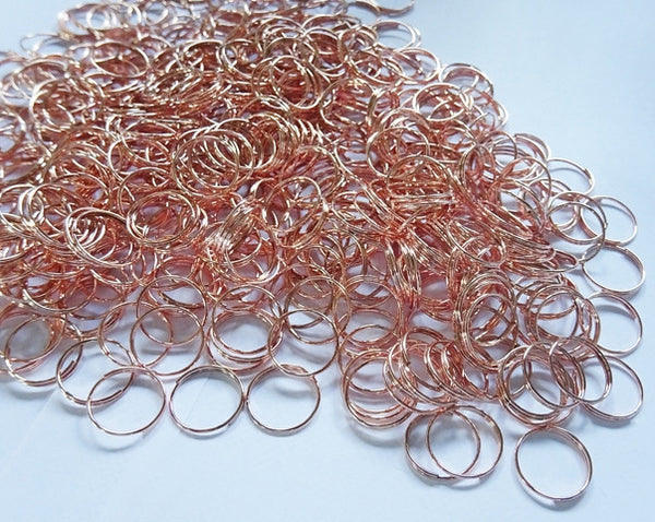 250 Copper Finish Chandelier 14mm Rings Links for Droplets Crystals Drops 5