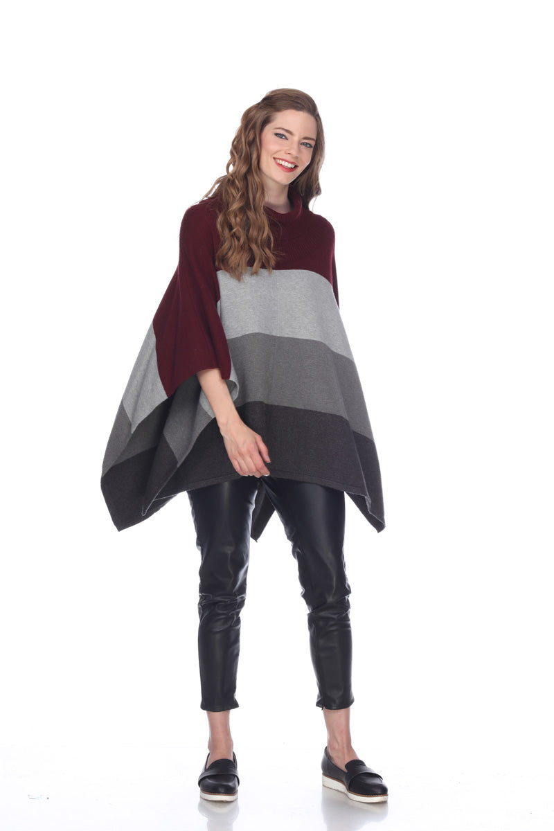 Sisters Cozy Cowl Neck Poncho