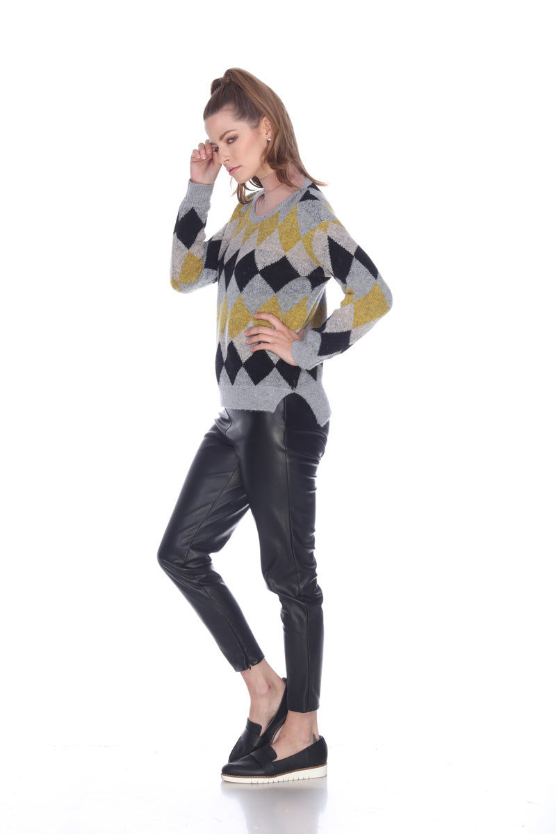 Cozy Argyle Pullover Sweater
