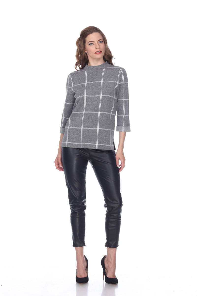 Squared High Neck Pullover