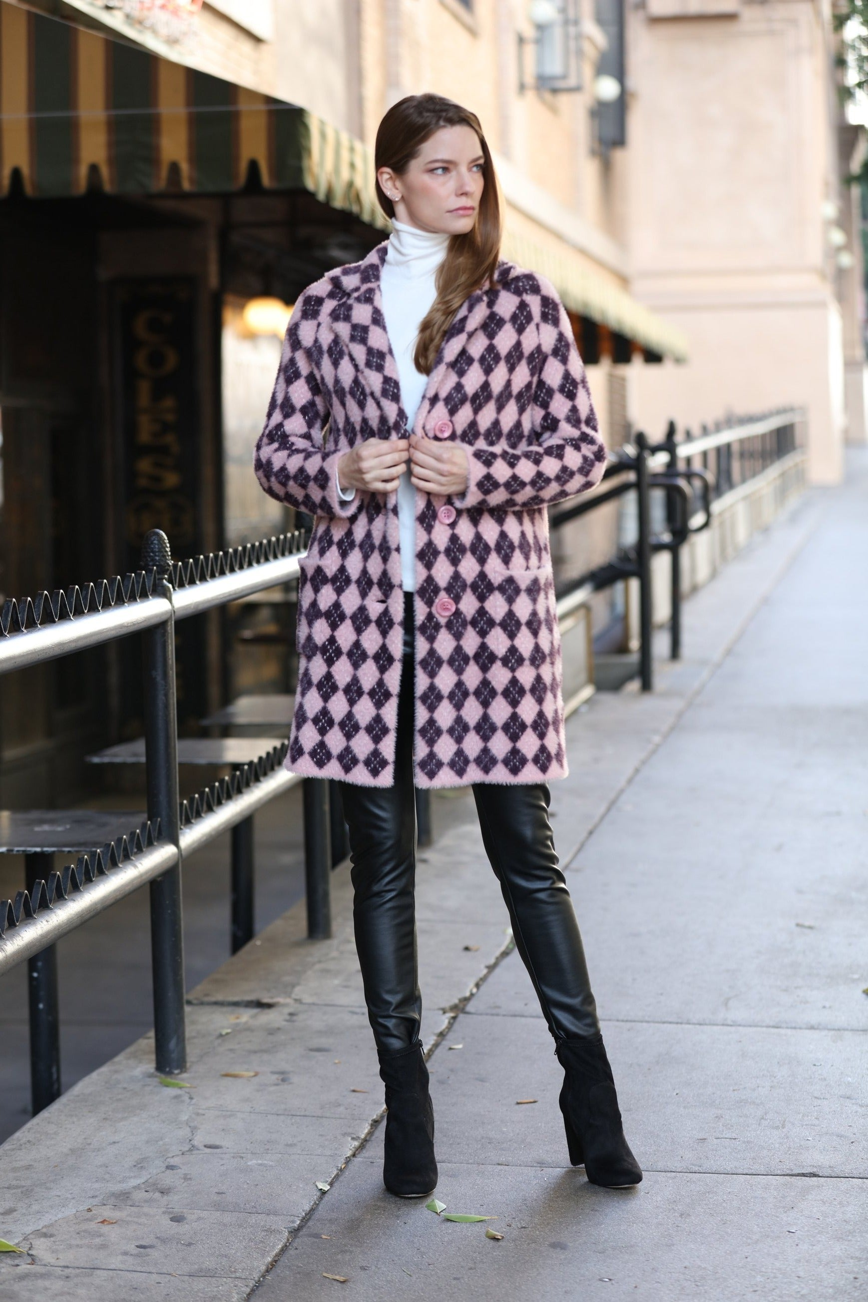 Diamond Pattern Coat