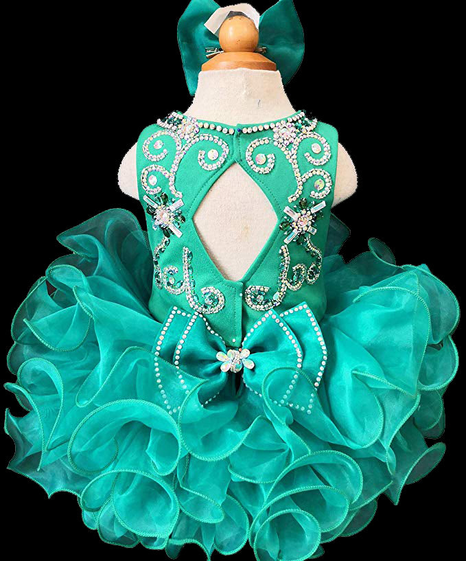 6 years NEW BABY CHILDREN GIRL NATIONAL PAGEANT DRESS Aqua Blue Sizes 6 month