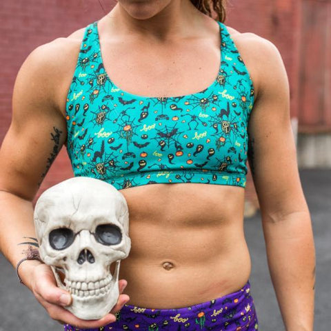 PRE-ORDER!!! HALLOWEEN Vitality Sports Bra (Teal-2018 Edition)