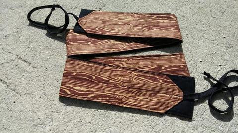 Wood Grain Wrist Wraps