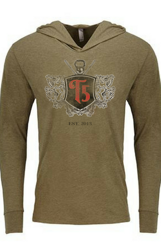 5th Anniversary Lightweight Hoodie-  ARMY GREEN - Unisex