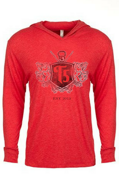 5th Anniversary Lightweight Hoodie-  RED - Unisex