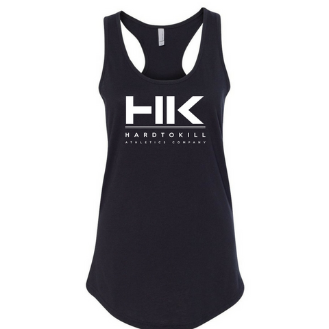 Hard To Kill Tank (Black w/ silver metallic ink)