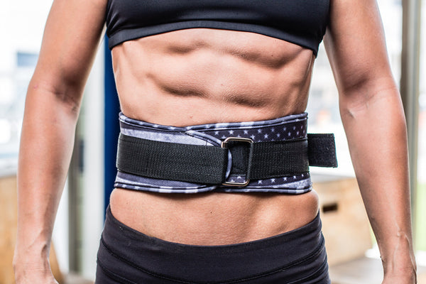 "STARS AND STRIPES 4"" VELCRO WEIGHTLIFTING BELT"
