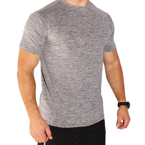 The Athleisure Tee (Heather Grey)
