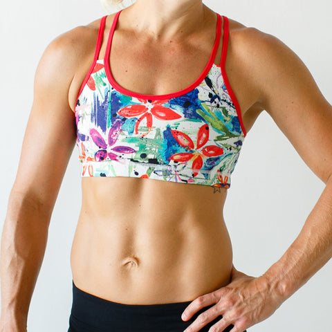 Rhapsody Sports Bra (Graffiti Garden)