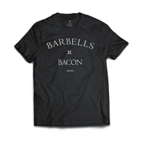 Barbells x Bacon Tee (Black)