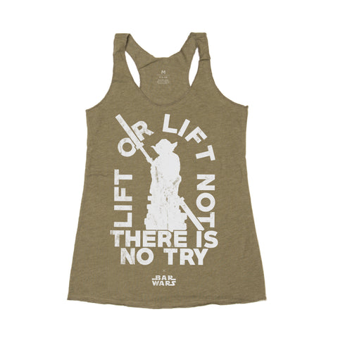 Lift or Lift Not (Military Green) - Racerback Tank