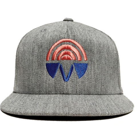 Good Vibrations Heather Gray Fitted Hat