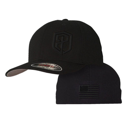 Logo FlexFit Hat (Murdered Out Black)