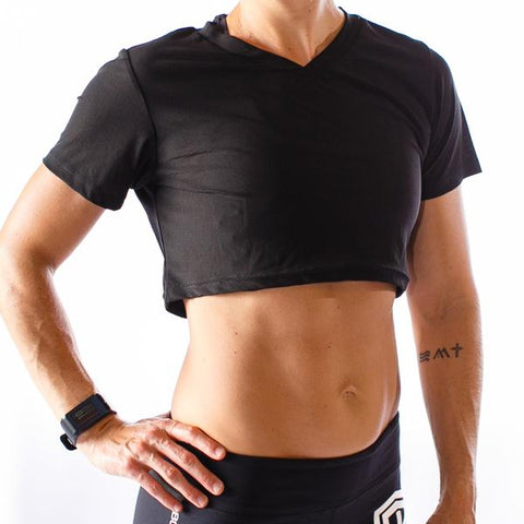 Hot Mesh Short-Sleeved Crop (3 Color Options)