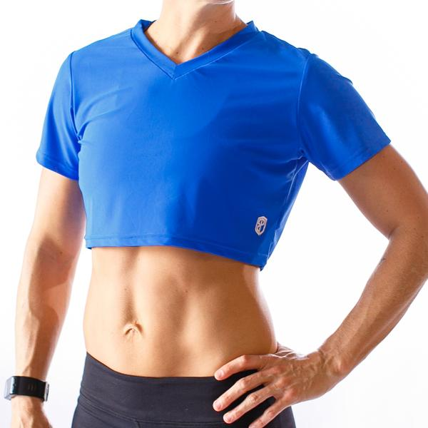 Hot Mesh Short-Sleeved Crop (Royal Blue)