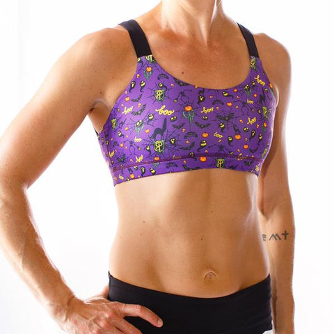 PRE-ORDER!!  HALLOWEEN Moxie Sports Bra (Purple-2018 Edition)