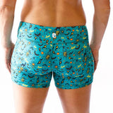 HALLOWEEN Double Take Booty Shorts (Teal-2018 Edition)