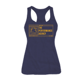 Performance Flag Racerback Tank (Vintage Navy)
