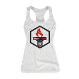 BoxTribe Games Crest Racerback Tank (Heather White)