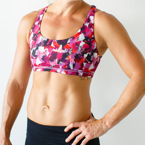 Vitality Sports Bra (Bright Pink Edition)