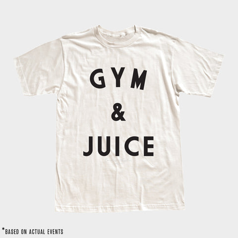 GYM & JUICE Tee (White) - Men's - PRE-SALE for 9/17