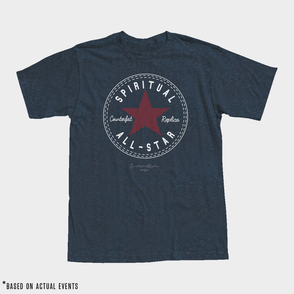 SPIRITUAL ALL-STAR Tee (Heather Navy) - Men's