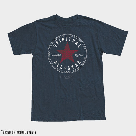 SPIRITUAL ALL-STAR Tee (Heather Navy) - Men's - PRE-SALE for 9/17