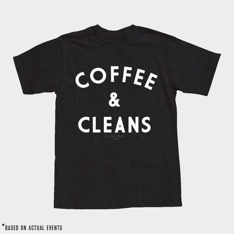 COFFEE & CLEANS Tee (Black) - Men's