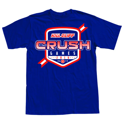 2016 KILL CLIFF CRUSH GAMES OFFICIAL JERSEY Tee - (Vintage Royal)