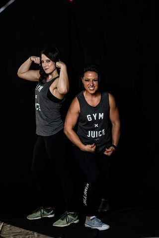 GYM & JUICE Muscle Tank (Charcoal) - Women's