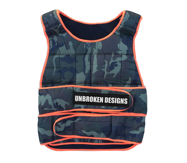 Army Print 40lb Weight Vest