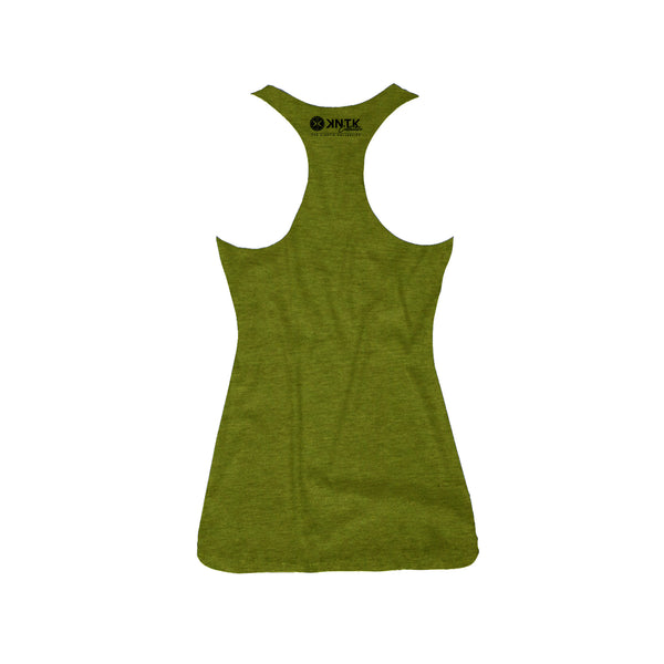 THE FALCON - Army Green Women's Racerback Tank