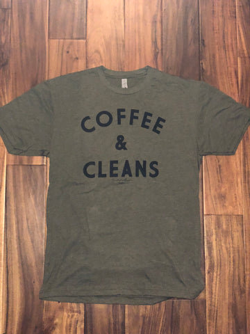 COFFEE & CLEANS Tee (Military Green) - Men's