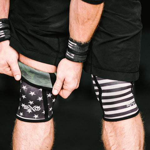 STARS & STRIPES / CAMO - REVERSIBLE SLEEVE - 5MM KNEE SLEEVES