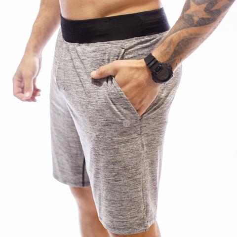 Male Lounge Shorts (Heather Grey)