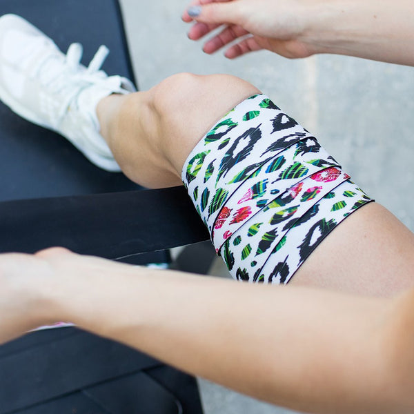 MULTI COLOR CHEETA KNEE WRAPS