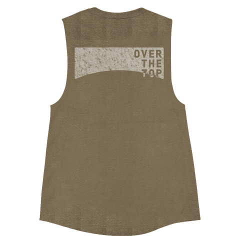 Over The Top Muscle Tank (OD Green) - Women's